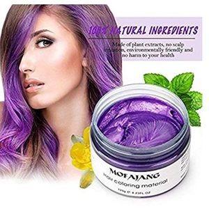 Purple Temporary Hair Dye Wax Mud